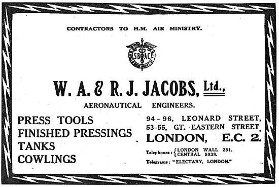 W.A & R.J. Jacobs Ltd  - Aeronautical Engineers.