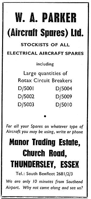 W.A.Parker - Aircraft Spares. Rotax Circuit Breakers