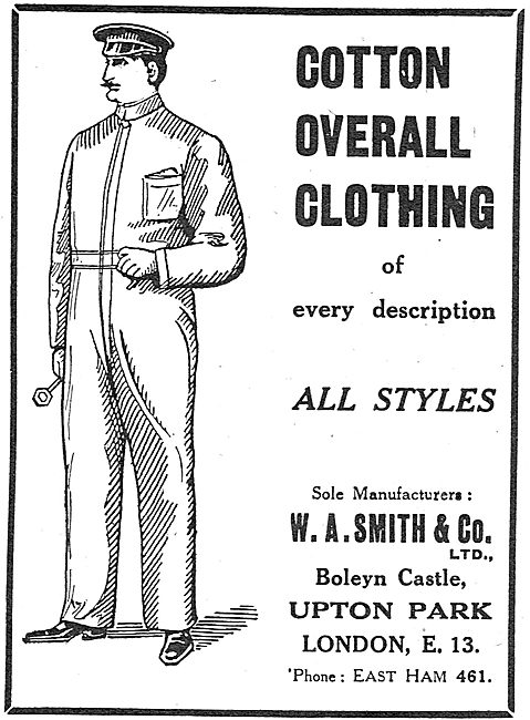 W.A.Smith & Co. Factory Workers Cotton Overalls