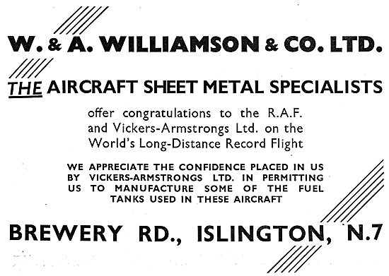 W & A.Williamson - Aircraft Sheet Metal Specialists