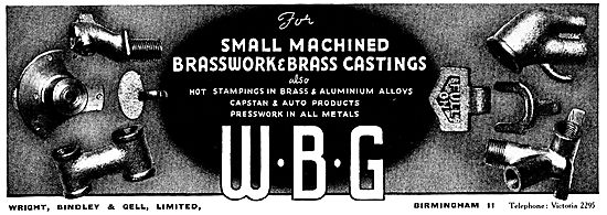 WBG Machined Brasswork And Stampings