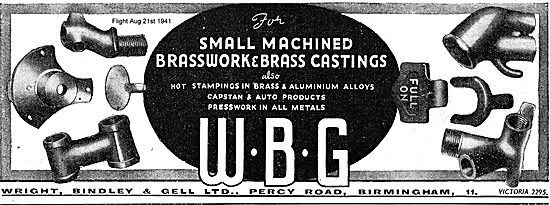 WBG Small Machined Brasswork For Aircraft