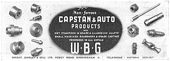Wright Bindley And Gell. W.B.G. Capstan & Auto Products
