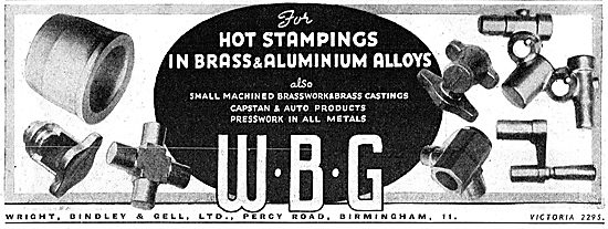 Wright Bindley And Gell. WBG Hot Stampings