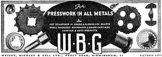 Wright Bindley And Gell. WBG Presswork