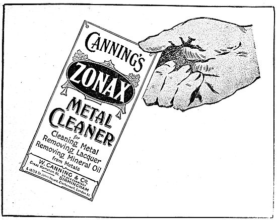 W.Canning & Co. Canning's Zonax Metal Cleaner
