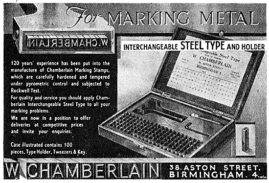 W.Chamberlain. Metal Marking Tool Sets