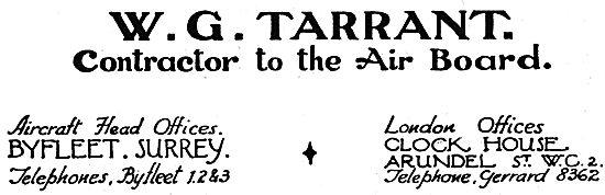 W.G.Tarrant - Byfleet, Surrey.