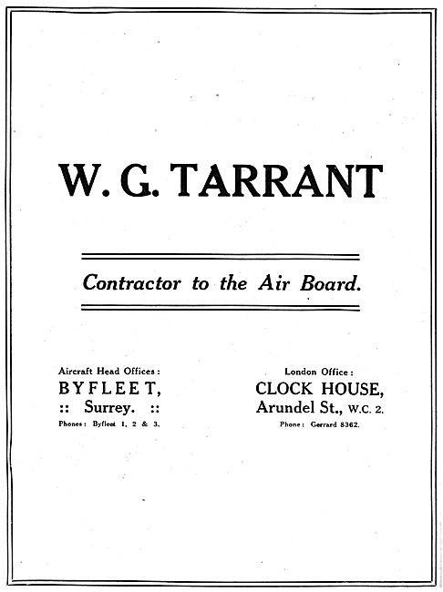 W.G.Tarrant - Aeronautical Engineering. 1918