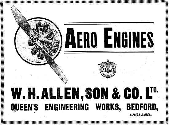 W.H.Allen & Son - Aero Engine Constructors