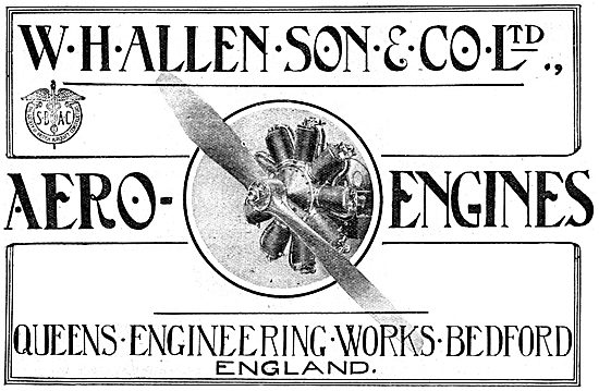 W.H.Allen & Son - Bedford. WW1 Aero Engine Manufacturers