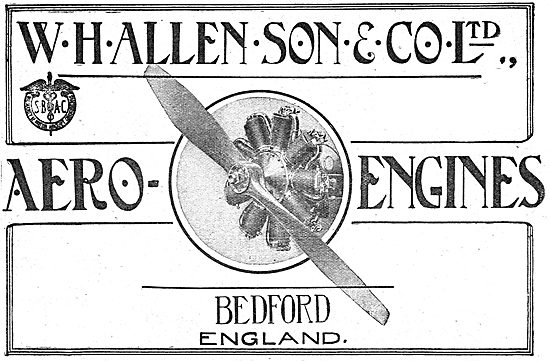 W.H.Allen & Son. Bedford. Manufacturers Of Aero-Engines