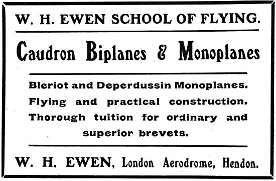 W.H.Ewen School Of Flying Hendon