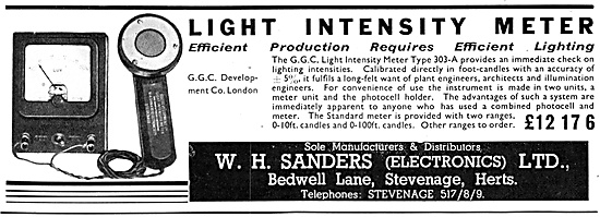 W.H.Sanders (Electronics) Light Intensity Meter