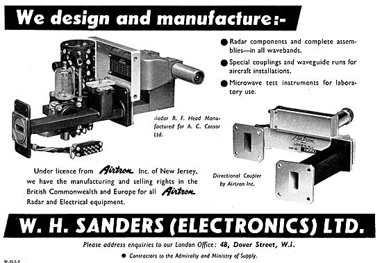 W.H.Sanders (Electronics) Electronic Components. Airtron