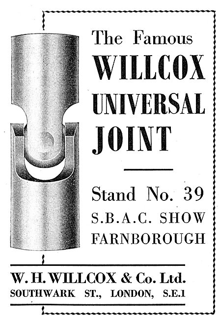 W.H.Wilcox & Co. Southwark St : Willcox Universal Joint.