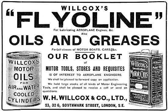 W.H.Willcox & Co. FLYOLINE Oils & Greases