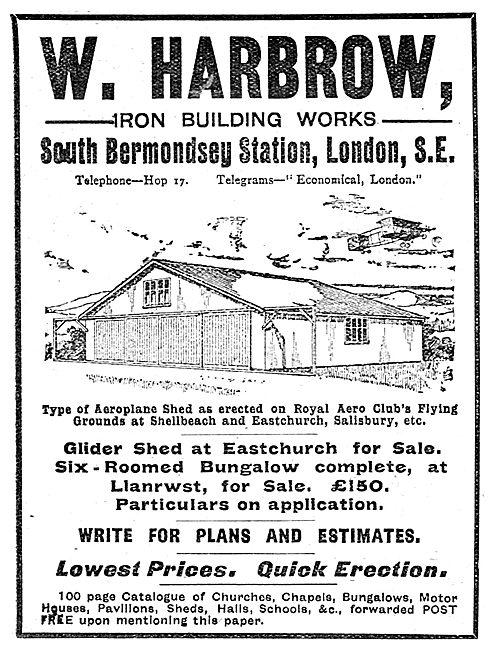 W. Harbrow - Iron Building Works - Aeroplane Sheds