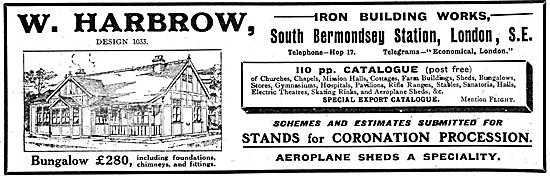 W. Harbrow Iron Building Works. Builders - Houses, Halls etc.