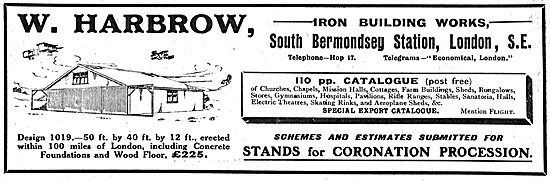 W. Harbrow South Bermondsey. Aeroplane Sheds