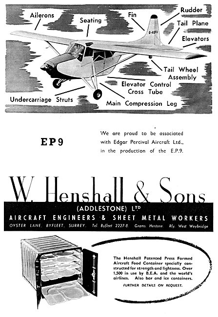 W. Henshall Aircraft Engineers & Sheet Metal Workers