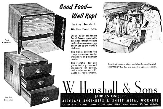 W. Henshall Aircraft Engineers & Sheet Metal Workers. Galley Eqpt