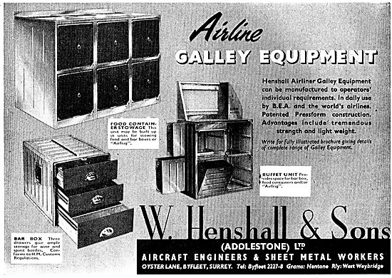 W. Henshall Aircraft Galley Equipment