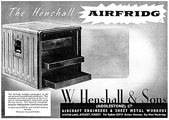 W. Henshall Sheet Metal Components. Henshall Galley Equipment