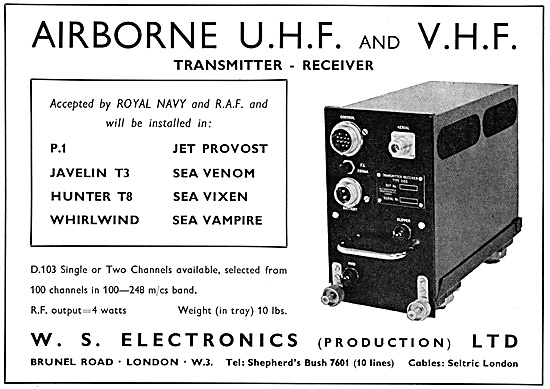 W.S.Electronics UHF Transmitter Receivers