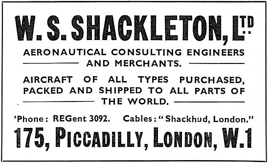 W.S.Shackleton - Aeronautical Consulting Engineers