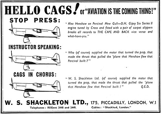 W.S.Shackleton Aeronautical Consultants & Aircraft Sales