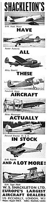 W.S.Shackleton Aircraft Sales & Brokerage