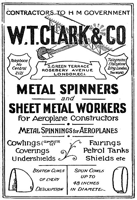 W.T.Clark.  Metal Spinners & Sheet Metal Work