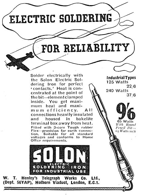 W.T.Henley's - Solon Electric Soldering Iron