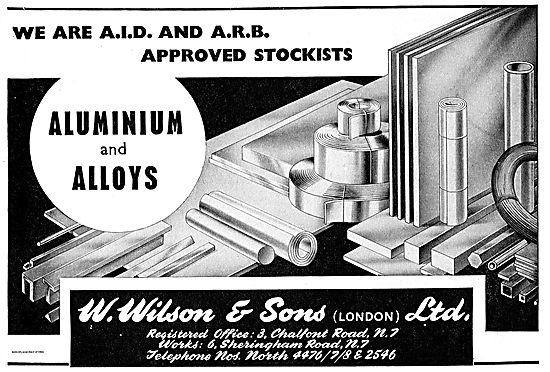 W. Wilson Aluminium & Aluminium Alloys Stockists For Aviation
