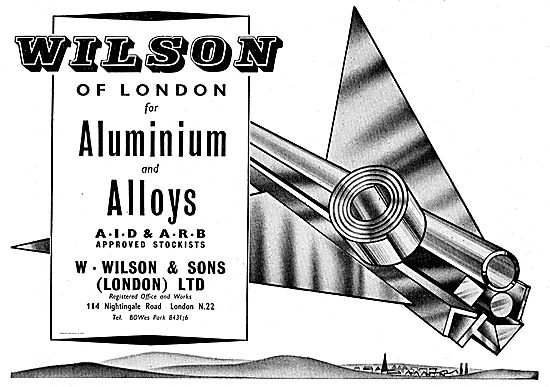 W. Wilson Aluminium Alloys. AID & ARB Approved Stockists