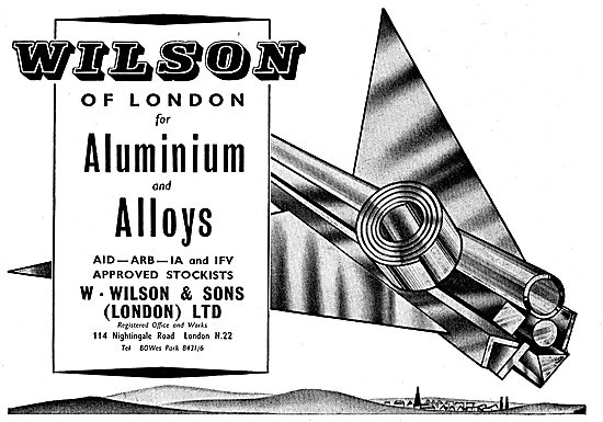 W.Wilson Approved Stockists For Aluminium & Aluminium Alloys