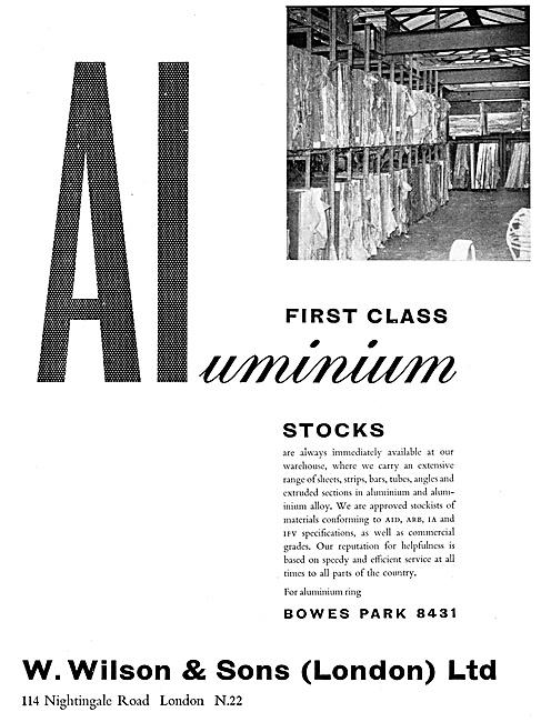 W.Wilson Approved Stockists For Aluminium & Aluminium Alloys