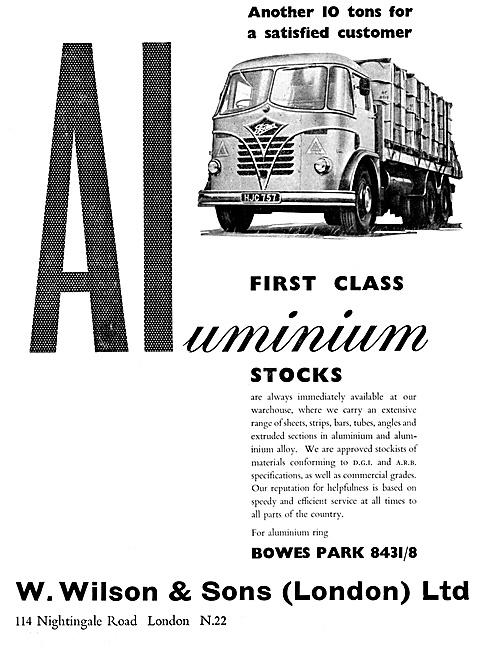 W.Wilson  Aluminium & Aluminium Alloys Suppliers