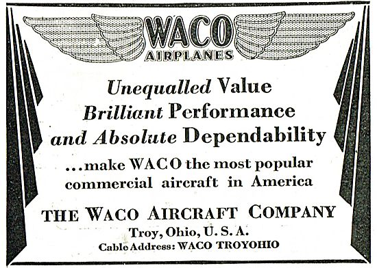 Waco Commercial Aircraft - Performace, Value & Dependability