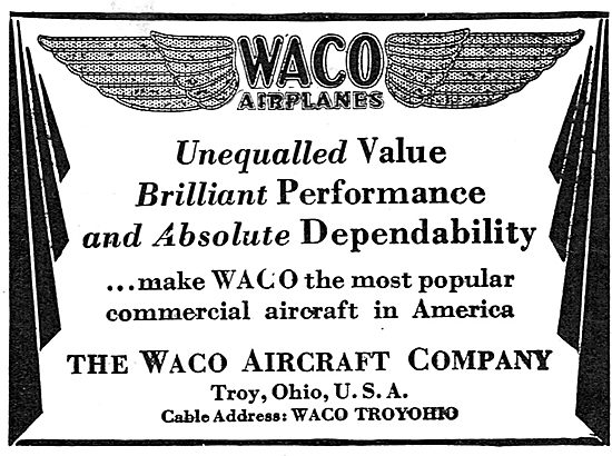 Waco Airplanes - Troy Ohio