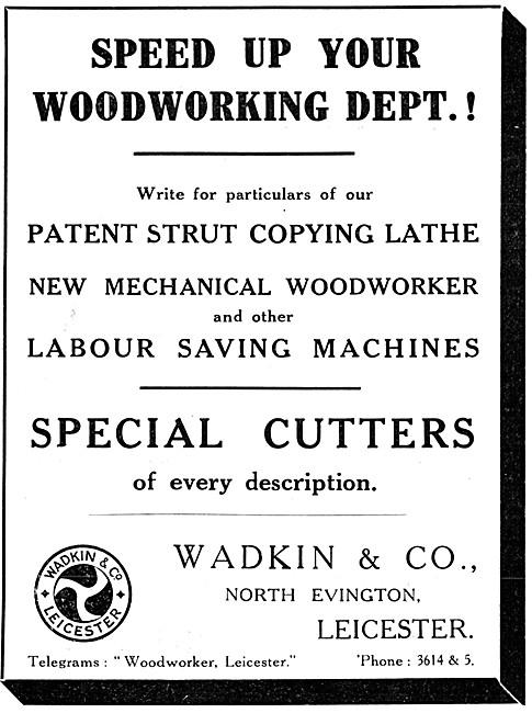 Wadkin Woodworking Machinery 1915