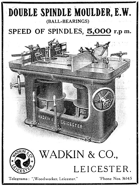 Wadkin Double Spindle Moulder 1915