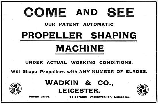 Wadkin Propeller Shaping Machine