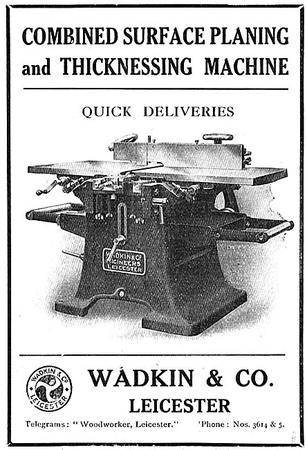 Wadkin Combined Surface Planing & Thicknessing Machine