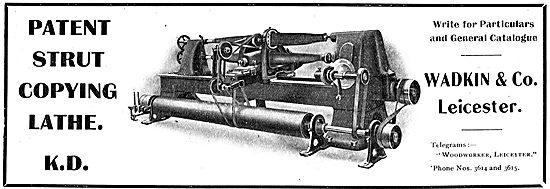 Wadkin Patent Strut Copying Lathe For Aircraft Constructors