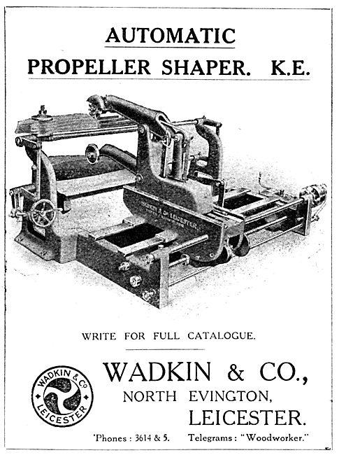 Wadkin Automatic Propeller Shaper K.E. 1916