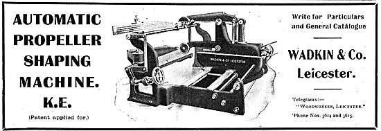 Wadkin Automatic Propeller Shaping Machinery For Aircraft