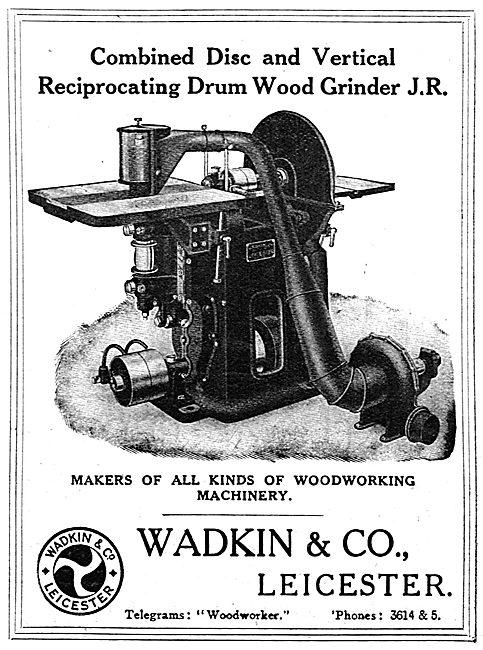 Wadkin Combined Disc & Vertical Wood Grinder J.R.