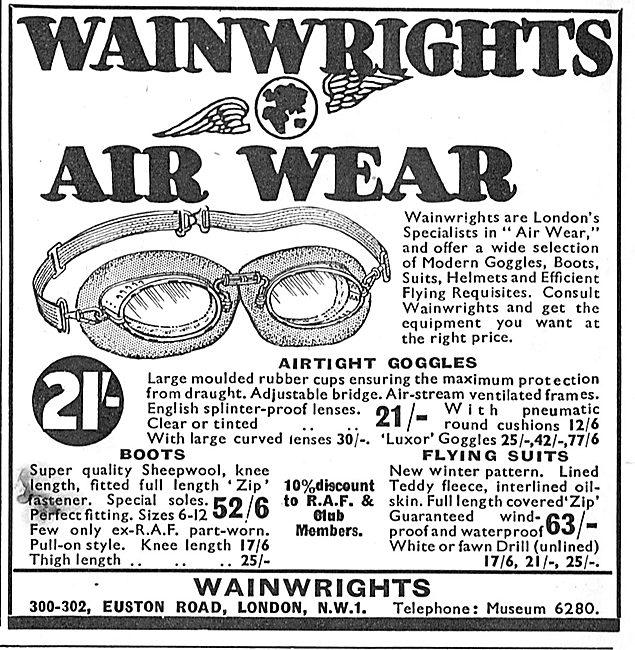 Wainwright's Air Wear Flying Clothing